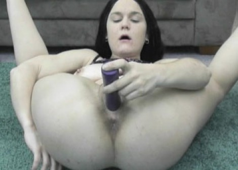 Slutty brunette Sarah fucks her toy