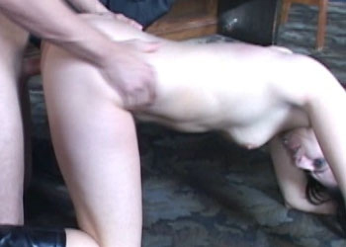 Ginger fucks in a four slut orgy